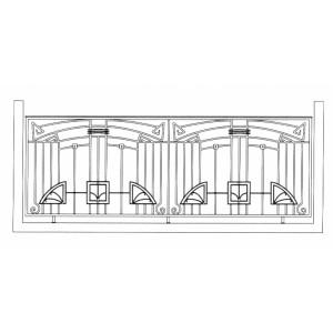 Ограда ритуальная эскизы4