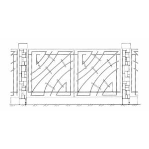 Ограда ритуальная эскизы10