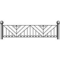Ограда ритуальная эскизы17