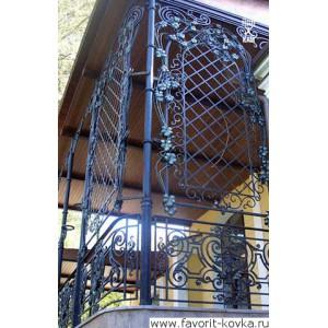 Балконные кованые ограждения4