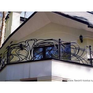 Балконные кованые ограждения5