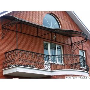 Балконные кованые ограждения11