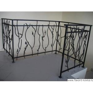 Балконные кованые ограждения15