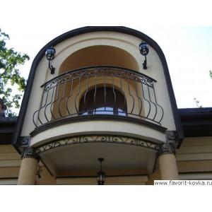 Балконные кованые ограждения23