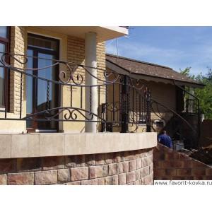 Балконные кованые ограждения24