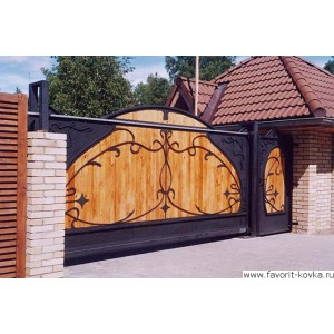 Деревянные ворота1