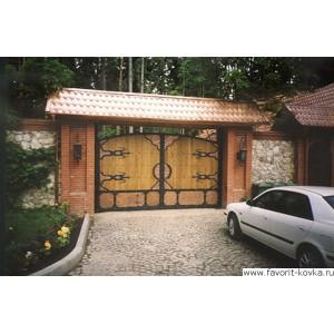 Деревянные ворота2