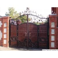 Деревянные ворота4