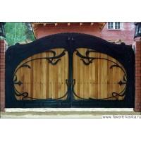 Деревянные ворота5