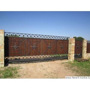 Деревянные ворота7
