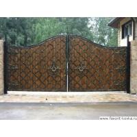 Деревянные ворота8
