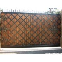 Деревянные ворота9