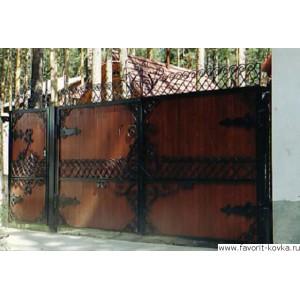 Деревянные ворота10