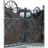 Деревянные ворота11