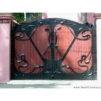 Деревянные ворота12