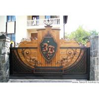Деревянные ворота13