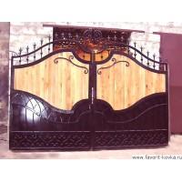 Деревянные ворота14