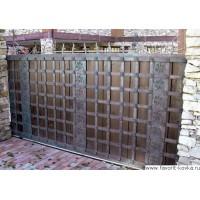 Деревянные ворота15