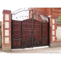 Деревянные ворота16