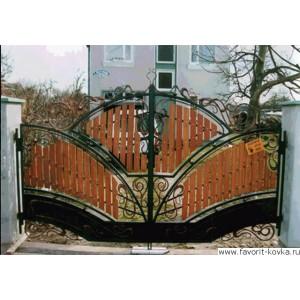 Деревянные ворота17