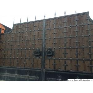 Деревянные ворота18