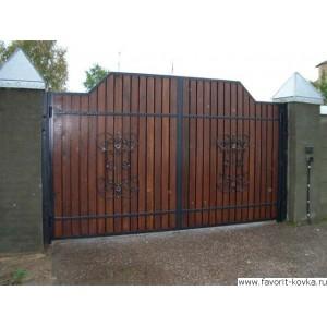 Деревянные ворота19
