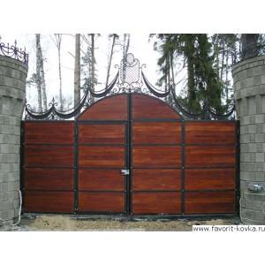 Деревянные ворота20
