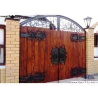 Деревянные ворота21