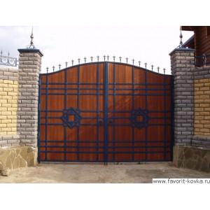 Деревянные ворота23