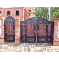 Деревянные ворота24