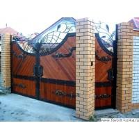 Деревянные ворота25