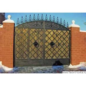 Деревянные ворота26