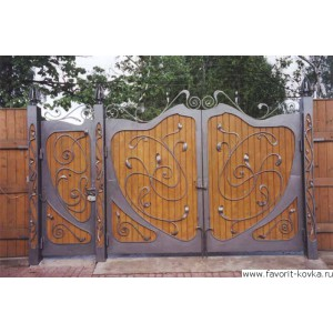Деревянные ворота28