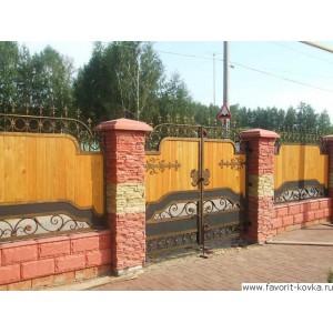 Деревянные ворота29