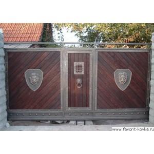 Деревянные ворота30