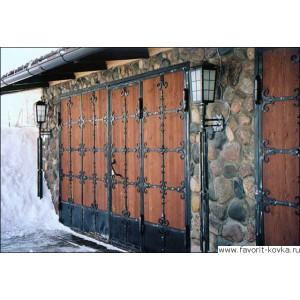 Деревянные ворота31