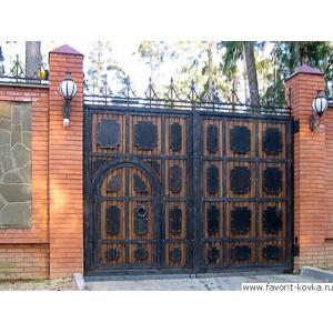 Деревянные ворота32