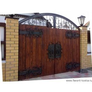 Деревянные ворота33