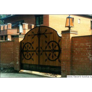 Деревянные ворота34