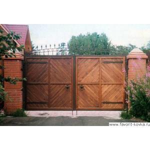 Деревянные ворота35