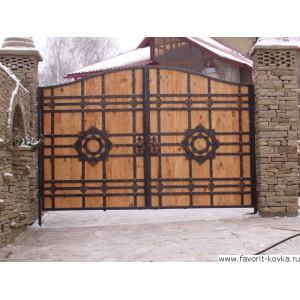 Деревянные ворота36