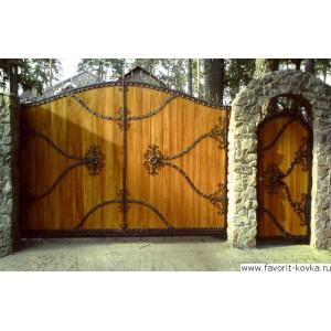Деревянные ворота37