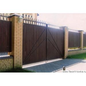 Деревянные ворота39