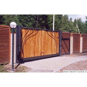 Деревянные ворота40