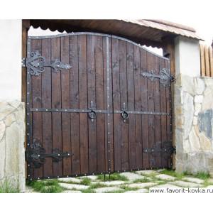 Деревянные ворота41
