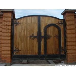 Деревянные ворота42