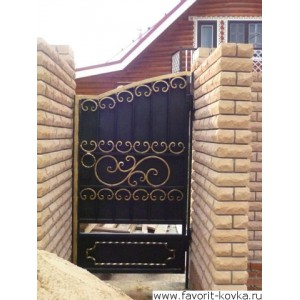 Кованые калитки и двери 1