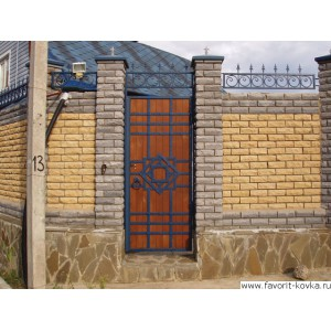 Кованые калитки и двери 2