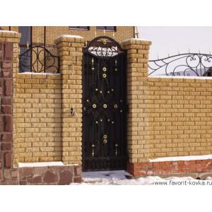 Кованые калитки и двери4