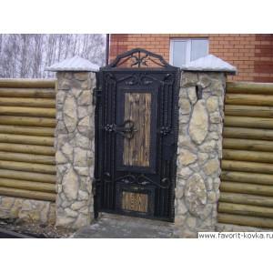 Кованые калитки и двери5